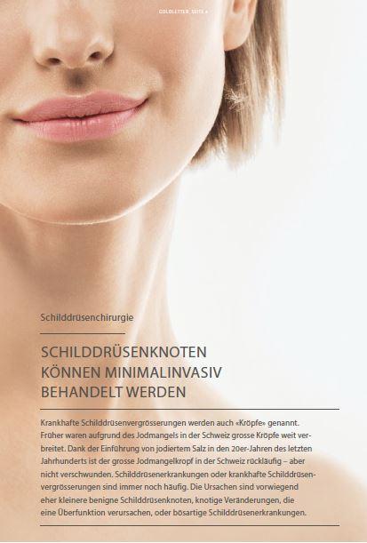 Schilddrüsenknoten können minimalinvasiv behandelt werden | Klinik ...